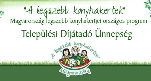 """Gutorfölde – """"A legszebb konyhakertek"""" program eredményhirdetése 2018. október 12."""