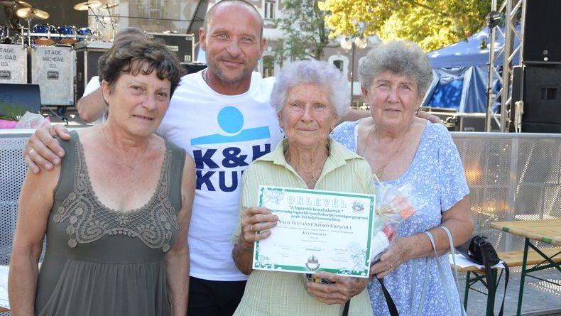Kunszentmárton – Kilencvenévesen nyert különdíjat kertjével