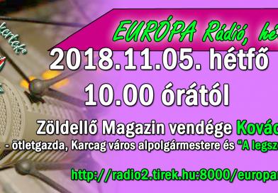 """Európa Rádió – Zöldellő Magazin vendége lesz """"A legszebb konyhakertek"""" program"""