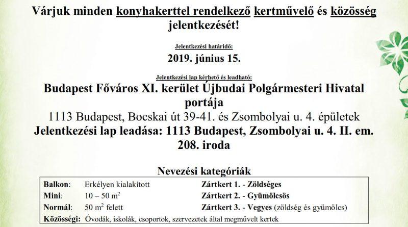 """Budapest Főváros XI. kerület Újbuda Önkormányzata meghirdeti """"A legszebb konyhakertek"""" programot"""