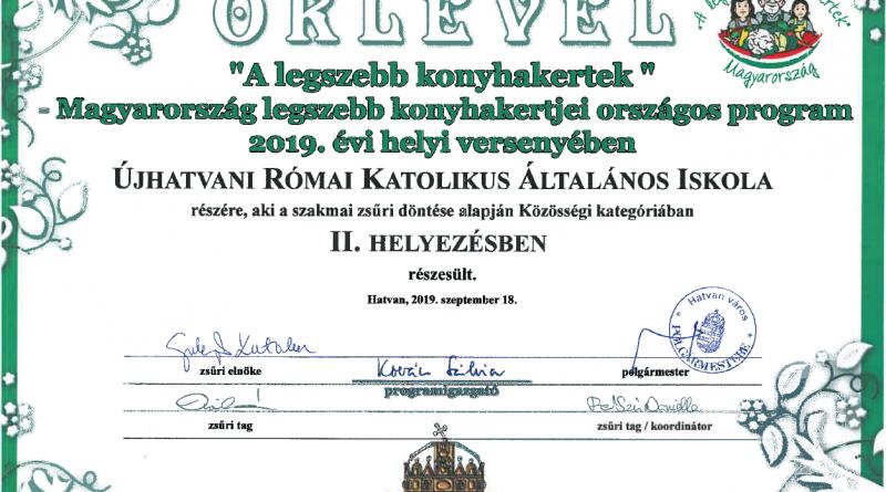 Hatvan – Szép eredményt ért el az Újhatvani Római Katolikus Általános Iskola
