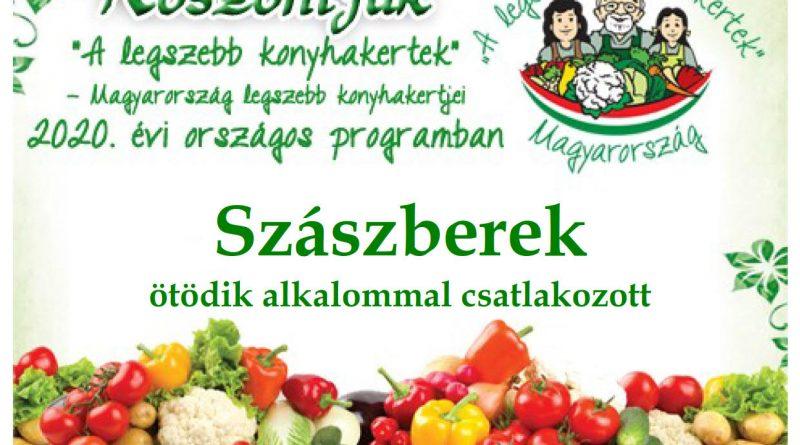 Szászberek – Jász-Nagykun-Szolnok megye ötödik 2020. évi csatlakozó települése