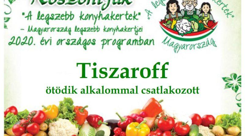 Tiszaroff – Jász-Nagykun-Szolnok megye első 2020. évi csatlakozó települése