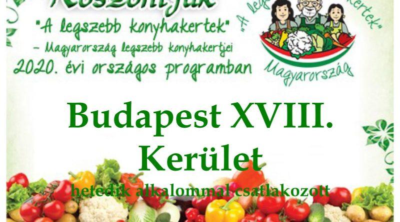 Budapest XVIII. Kerület – Pest megye hetedik 2020. évi csatlakozó települése