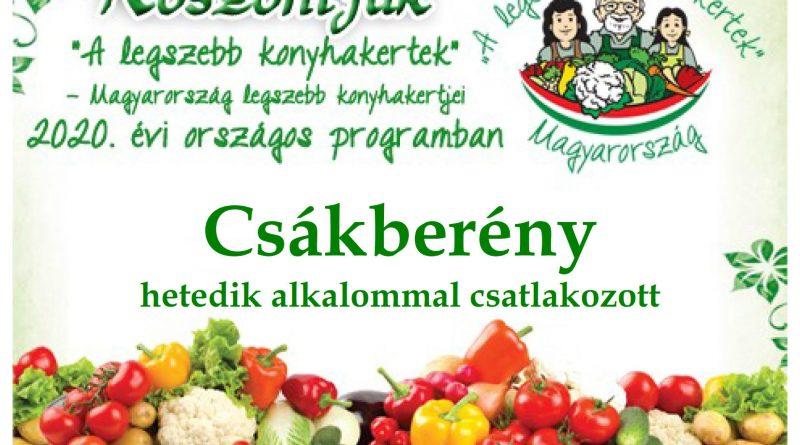 Csákberény – Fejér megye negyedik 2020. évi csatlakozó települése