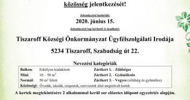 """Tiszaroff – """"A Legszebb Konyhakertek"""" program"""