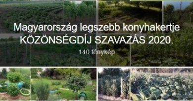 Magyarország legszebb konyhakertje KÖZÖNSÉGDÍJ SZAVAZÁS 2020.