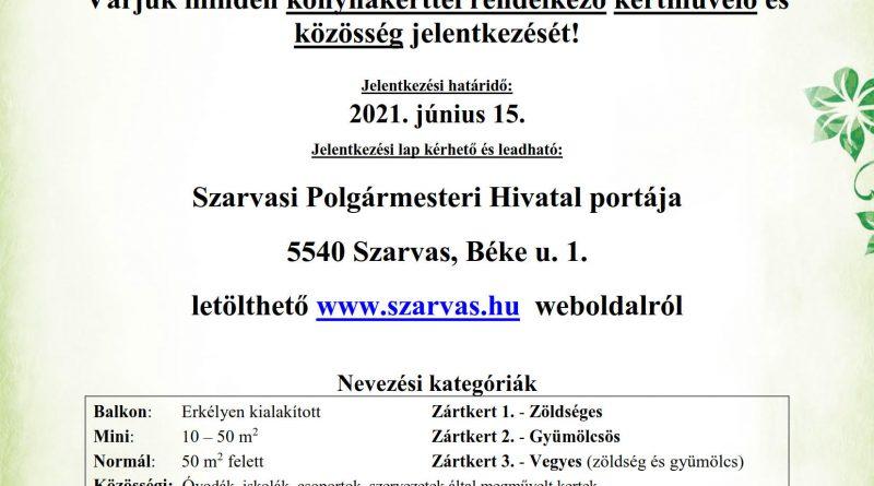 """Szarvas – """"A legszebb konyhakertek"""" program Szarvason"""