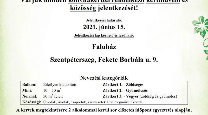 """Szentpéterszeg – """"A legszebb konyhakertek"""" program meghirdetése"""